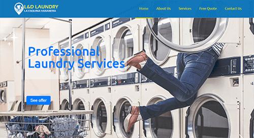 pagina web lavanderia