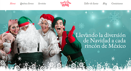 pagina web de navidad
