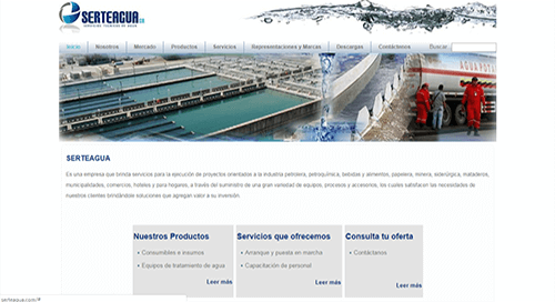 sitio web servicios