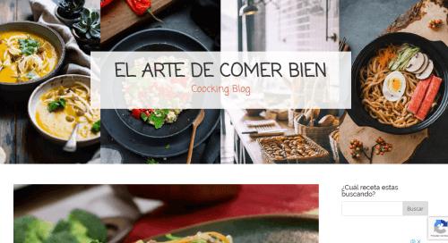desarrollo de paginas de blog de cocina