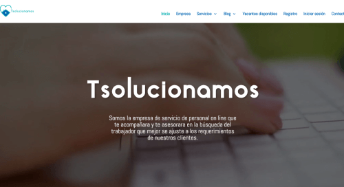 Desarrollo de paginas de servicios